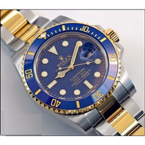 Relógio Submariner Oyster Perpetual Azul Frete Grátis