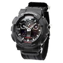 Relógio Casio G-shock Ga100mc 1a Tecido Preto Novo Original