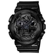 Relógio Casio G-shock Ga-100 Cf-1ad H.mundial 5 Alarmes 200m