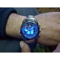 Relógio Luxo Led Tvg Seals Elite Original Digital Analogico