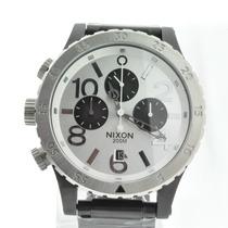 Relógio Nixon The 48-20 Prata Com Fundo Branco Círculos Pre