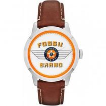 Relógio Fossil Fs4896 Pulseira Em Couro Garantia No Brasil