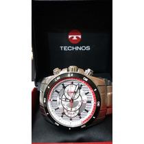 Lindo Technos Cronografo - Grande E Moderno- Aço