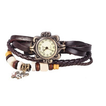 Relógio Pulso Vintage Feminino Couro Angelina Joli Importado