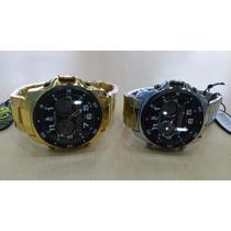 Relógio Original Atlantis Ana Digi G3216 Aço Dourado