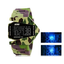 Relógio Militar Camuflado Led Skmei Prova D