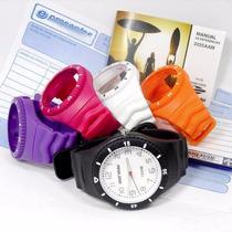 Relógio Mormaii Aquarela 2035aam-8g Troca Pulseiras 5 Cores
