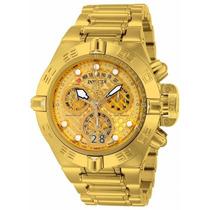 Relógio Invicta Subaqua Noma 4 Iv 14497 Gold 18k Original !