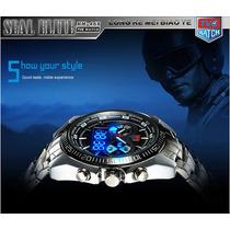 Relógio Tvg Aço Masculino Inoxidável. Analógico E Digital.
