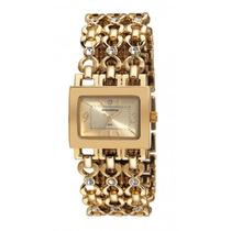 Relógio Mondaine Feminino Dourado Pedras 76298lpmndm1