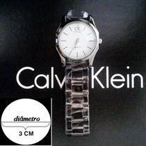 Relógio De Puslo Calvin Klein Prata Masculino   Frete Gratis
