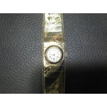 Relógio Bracelete Goldmatic Swiss Todo Em Ouro