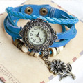 Relógio De Couro Feminino Estilo Bracelete