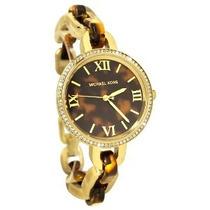 Relógio De Luxo Michael Kors Mk4281 Anal Tortoise Completo