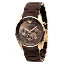 Relógio Emporio Armani Ar5890 Marrom Rose Original. Garantia