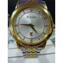 Bulova Quartz 37mm Extra Fino Aço/ouro Impecável