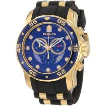 Relógio Invicta Scuba Diver 6983 Banhado Á Ouro 18k Paris