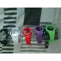 Relógio Troca Pulseira Unissex Com 5 Pulseiras