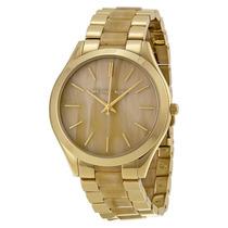Relógio Michael Kors Mk4285 Dourado Madrepérola Com Caixa.