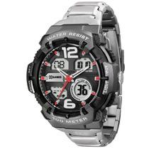 Relógio X Games Xmpsa031 Pulseira Aço Alarme Cronógrafo Nfe