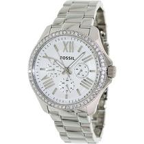 Relógio Feminino Fossil Am4481 Metal Strass Novo Original