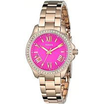 Relógio Feminino Fossil Am4598 Dourado Pink Novo Original