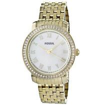 Relógio Feminino Fossil Es3113 Dourado Novo Original