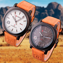 Relógio Masculino Curren Preto Ou Branco Pronta Entrega