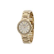 Relógio Feminino Fossil Es3283 Dourado Strass Novo Original