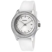 Relógio Feminino Fossil Am4462 Branco Strass Novo Original