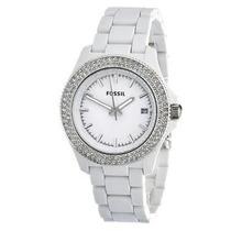 Relógio Feminino Fossil Am4466 Branco Strass Novo Original
