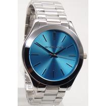 Relógio Michael Kors Mk3292 Prata Azul Original Frete Grátis