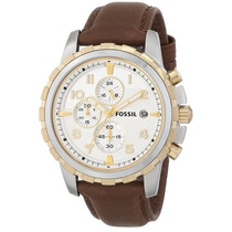 Relógio Fossil Masculino Fs4788 Couro Marrom Novo Original