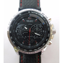 Relógio Megir M1010 Stainless Steel Back + Frete Grátis