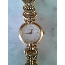 Lindo Relógio Bulova Quartz Foleado A Ouro Original Femin