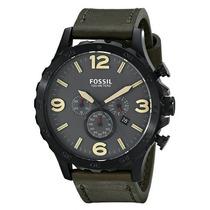 Relógio Masculino Fossil Jr1476 Nate Couro Novo Original