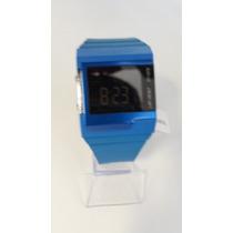Relógio Diesel Azul Pulseira De Borracha Original Novo