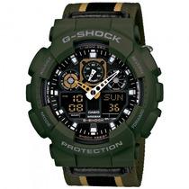 Relógio Casio Ga-100mc-3adr G-shock Militar Sport - Refinado