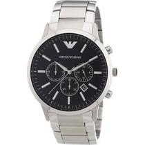 Relógio Emporio Armani Ar2460 Prata/preto Original Garantia.