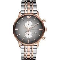 Relógio Emporio Armani Ar1721 Prata,preto E Rose C/ Garantia