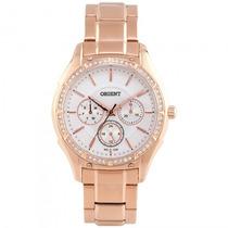Relógio Orient Frssm015 S1rx Feminino Dourado Rosê- Refinado
