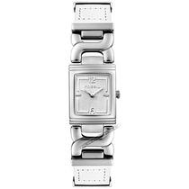 Relógio Fossil Feminino Prata Branco Aço Inoxidável Couro