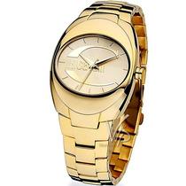 Relógio Just Cavalli Italiano Dourado Ouro 18k Feminino