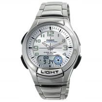 Relógio Casio Aq-180 Wd 7 Digital Branco Aço