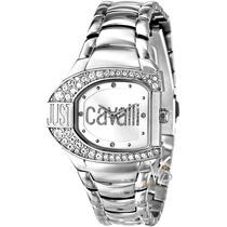Relógio Feminino Just Cavalli Italy Prata Cristal Luxo Mk