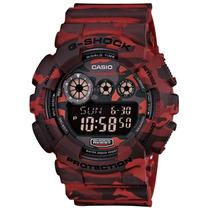 Relógio Casio G-shock Gd-120cm-4dr Vermelho Deserto Original