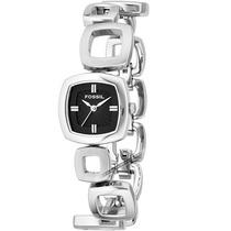 Relógio Feminino Fossil Prata Preto Aço Inoxidável Mk