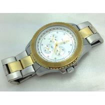 Relógio Masculino Guess De Aço Folheado A Ouro Original
