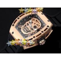 Relógio Richard Mille Série Tourbillon Skull Eta New -rm 052