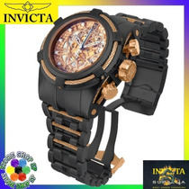 Relógio Invicta Bolt Zeus Jt 14429 Esqueleto Black Rosê Novo